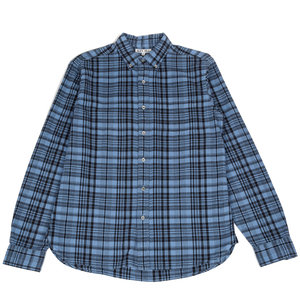 Dyed Plaid Shirt - Cloud Blue