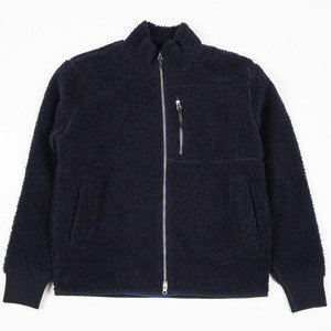 Zip Sherpa Jacket - Dark Navy