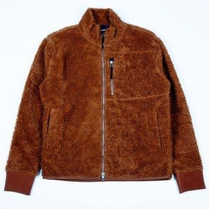 Zip Sherpa Jacket - Toffee
