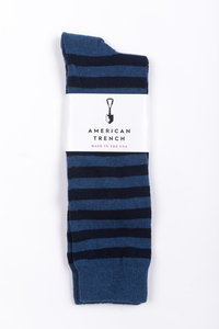 Rugby Stripe Socks - Dark Navy