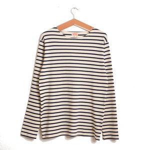 Breton LS Stripe - Natural / Seal
