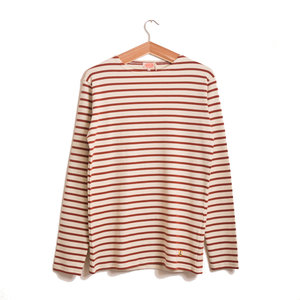 Breton LS Stripe - Nature / Brick