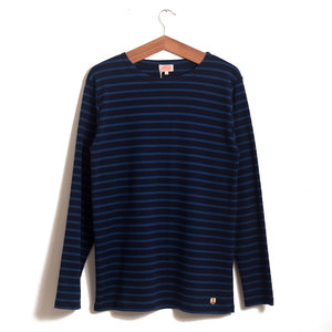 Breton LS Stripe - Seal / Royal Blue