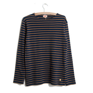 Heritage Breton L/S Shirt - Dark Blue / Brown