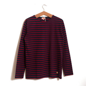 Lightweight LS Breton - Navy / Red