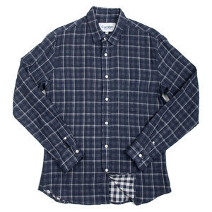 Double Cloth Plaid - Navy