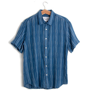Raindrop Stripe Short Sleeve Shirt
