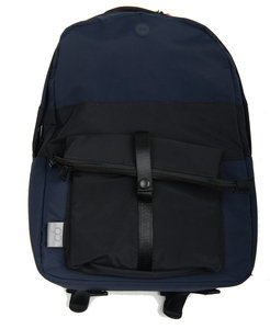 C6 x Folk Backpack - Navy Ripstop with Black
