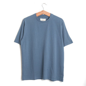 CONTRAST SLEEVE TEE - DENIM BLUE