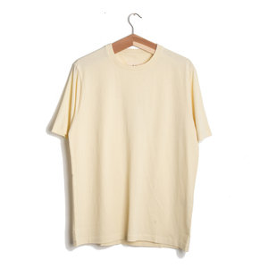 CONTRAST SLEEVE TEE - SOFT YELLOW