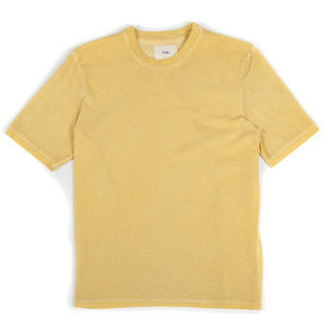 Contrast Sleeve Tee - Cold Dye Light Gold