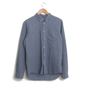 Relaxed Fit Shirt - Blue Texture