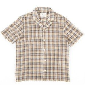 Soft Collar Shirt – Light Gold Check