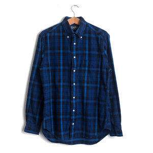 Blue & Navy Plaid Flannel