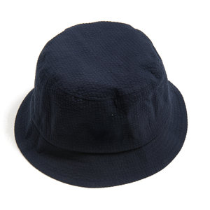Bucket Hat - Navy Seersucker