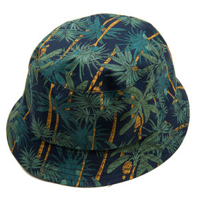 Bucket Hat - Palm on Navy