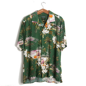 Green Aloha Camp Shirt