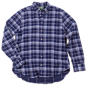 Navy Check Japanese Flannel