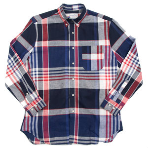 Santiago Shirt - Red Blue Check