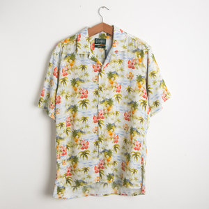 Watercolour Tropics Camp Shirt