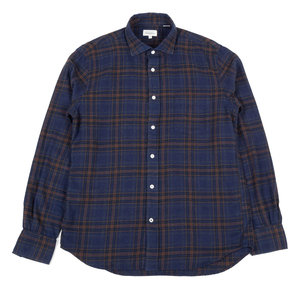 Paul - Brown and Red on Blue Flannel Plaid