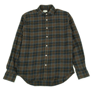 Paul - Navy and Blue on Brown Flannel Plaid