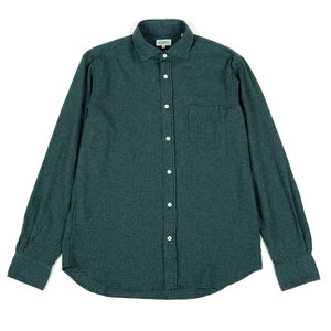 Gingham flannel Paul shirt - GREEN