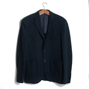 Julien Pique Cotton Jacket - Navy