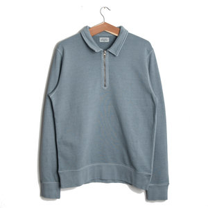 Long Sleeve Zip Polo - Aquamarine