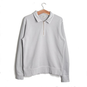 Long Sleeve Zip Polo - Cloud