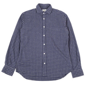 Paul Shirt Grey and Chalk - Navy Checks