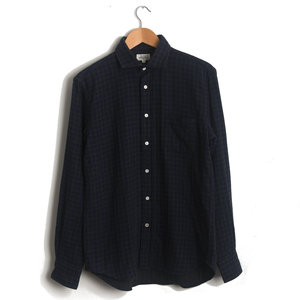 Paul - Grey and Navy Gingham Double Face