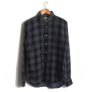 Paul - Navy and Grey Plaid Double Face