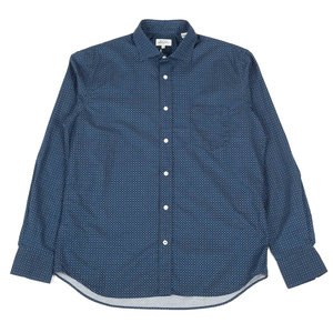 Paul Shirt Chalk Mini Print - Navy