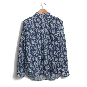 Paul - White Floral on Navy