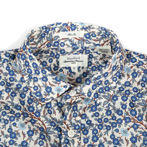 Sammy Shirt Blue Liberty Flowers - White