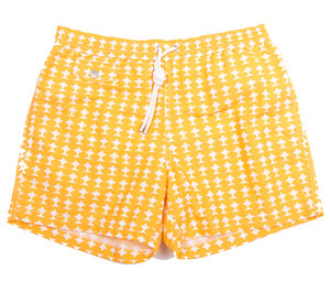 Swim Boxer Shorts - Yellow / White