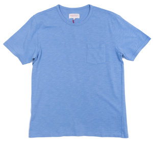 SKY BLUE GARMENT DYED POCKET TEE