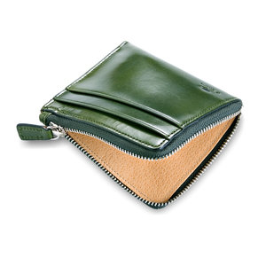 SMALL ZIPPY WALLET - GREEN