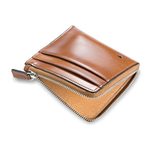 SMALL ZIPPY WALLET - TAN