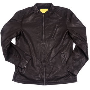 Dive Leather Jacket - Black