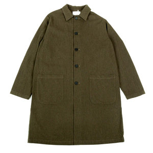 CAMPBELLTOWN COAT - FOREST GREEN COTTON/WOOL TWILL