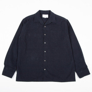 TAIN SHIRT - NAVY BRUSHED COTTON
