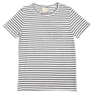 Guerreiro Tee - Narrow Blue Stripes