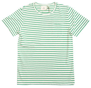 Guerreiro Tee - Narrow Green Stripes