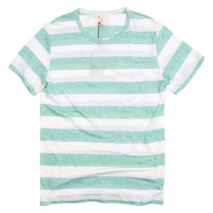 Guerreiro Tee - Wide Green Stripes
