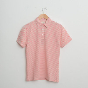 Leao Polo Shirt - Coral Stripes