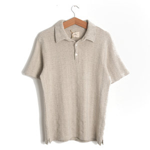Leao Polo Shirt - Ecru Net