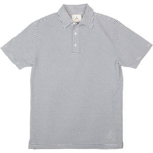 Leao Polo Shirt - Navy Stripes