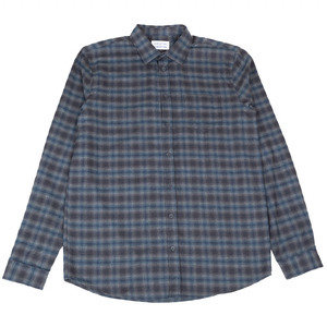 LYNCH SHIRT - NAVY/BROWN CHECK